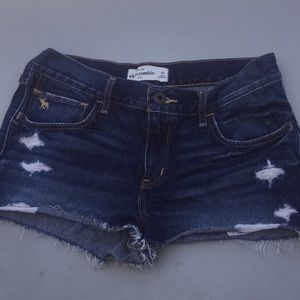 Abercrombie kids cut off denim shorts